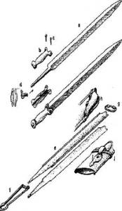 Épée et son fourreau